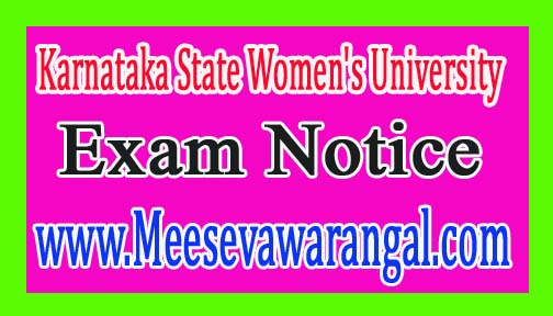 Karnataka State Women's University UG Hindi Evaluator List 2016 Notice