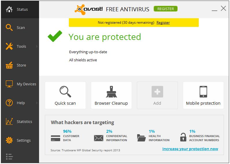 Avast! Free Antivirus Home Edition