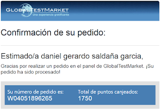 puntos minimos canjeados en Globaltestmarket