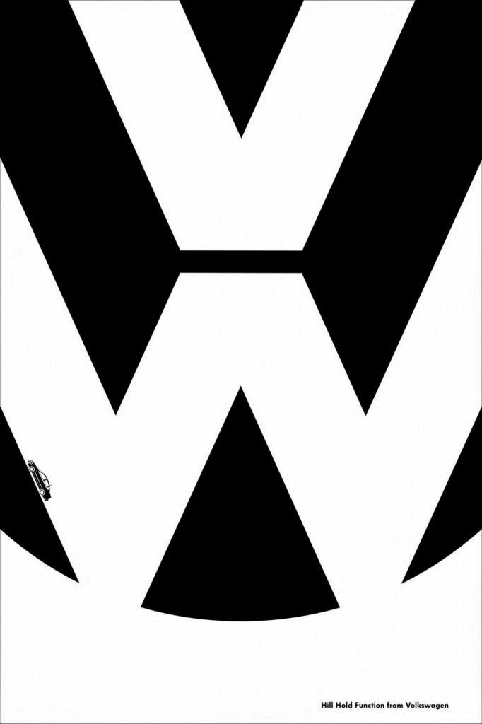 Logotipo famoso volkswagen publicidad minimalista