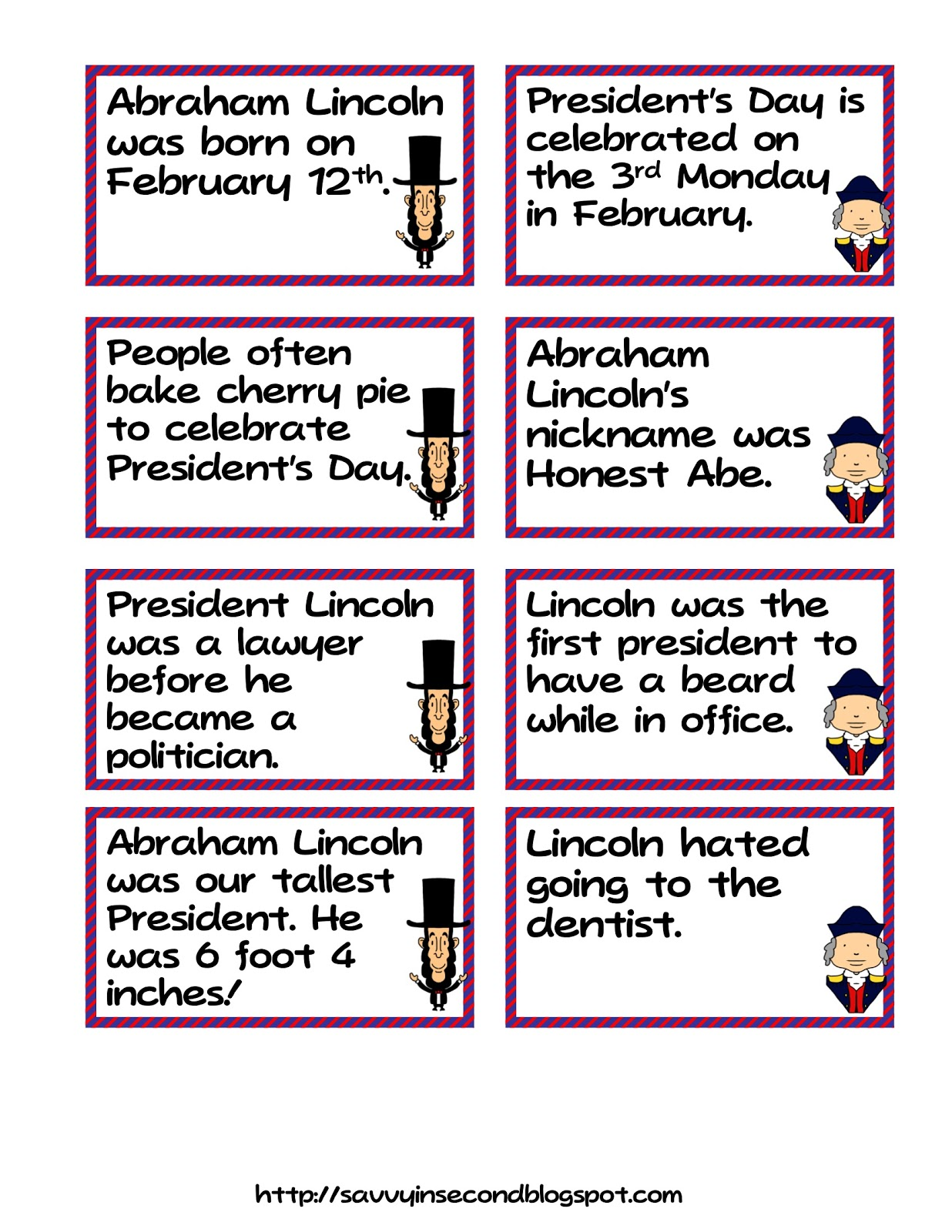 Savvy In Second President S Day Literacy Fact And