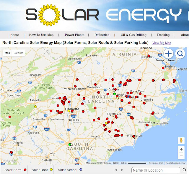 Solar Energy Maps | Solar Farms, Parking Lots & Roofs Near You ...