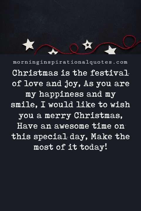 Christmas Message for boyfriend