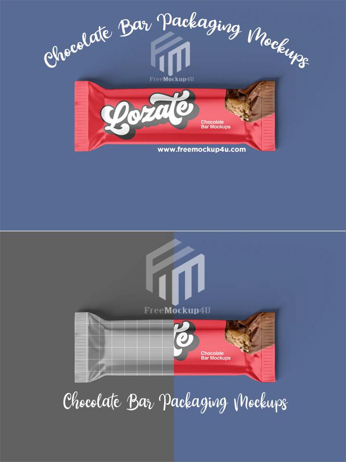 3 Chocolate Bar Packaging Mockups PSD Design