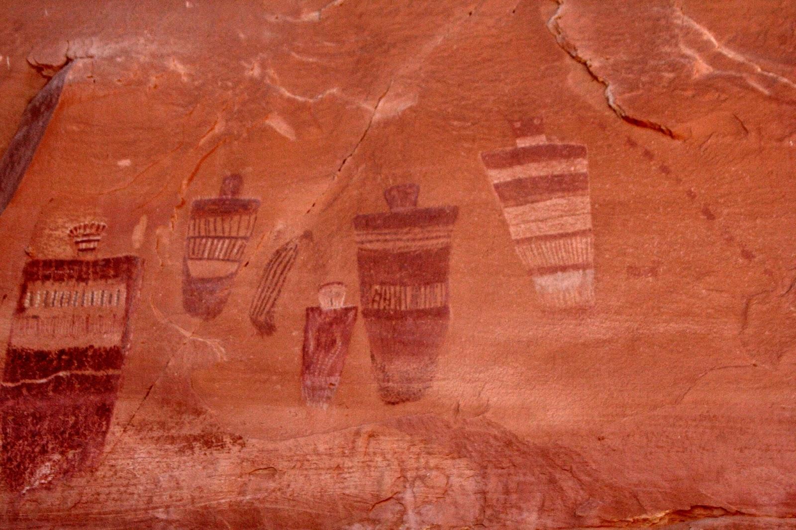 Utah Pictographs Petroglyphs And Rock Art Horseshoe Canyon