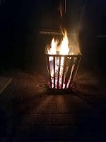 Feuerkorb Winter Bischleben
