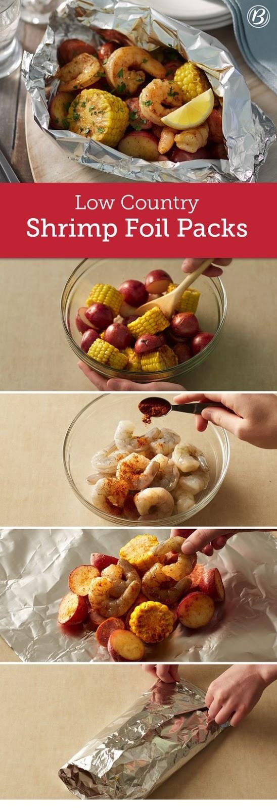 Low Country Shrimp Foil Packs