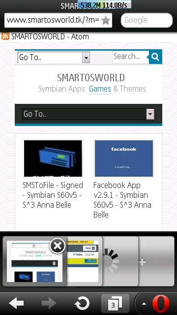 Web Browser for Symbian - Opera Mobile 12 for Symbian