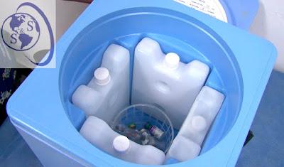 termo azul celeste vacunas nilkamal 1,7 litros tapa abierta paquetes frios logo salud y superacion eirl
