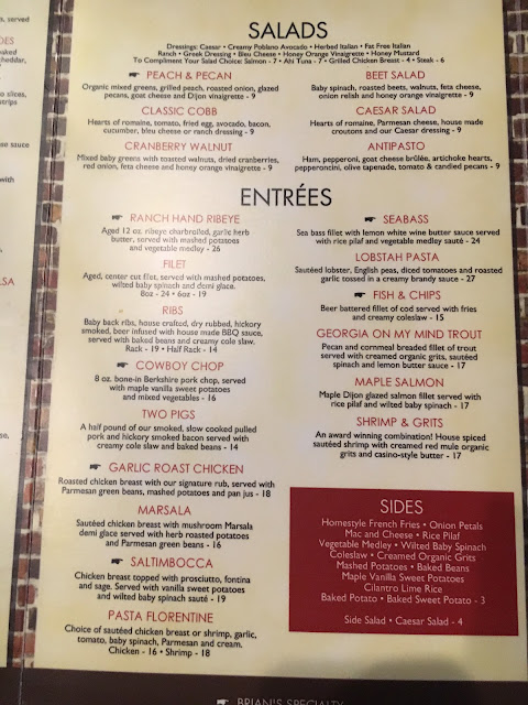 Brian's Sports Bar Newnan GA Menu