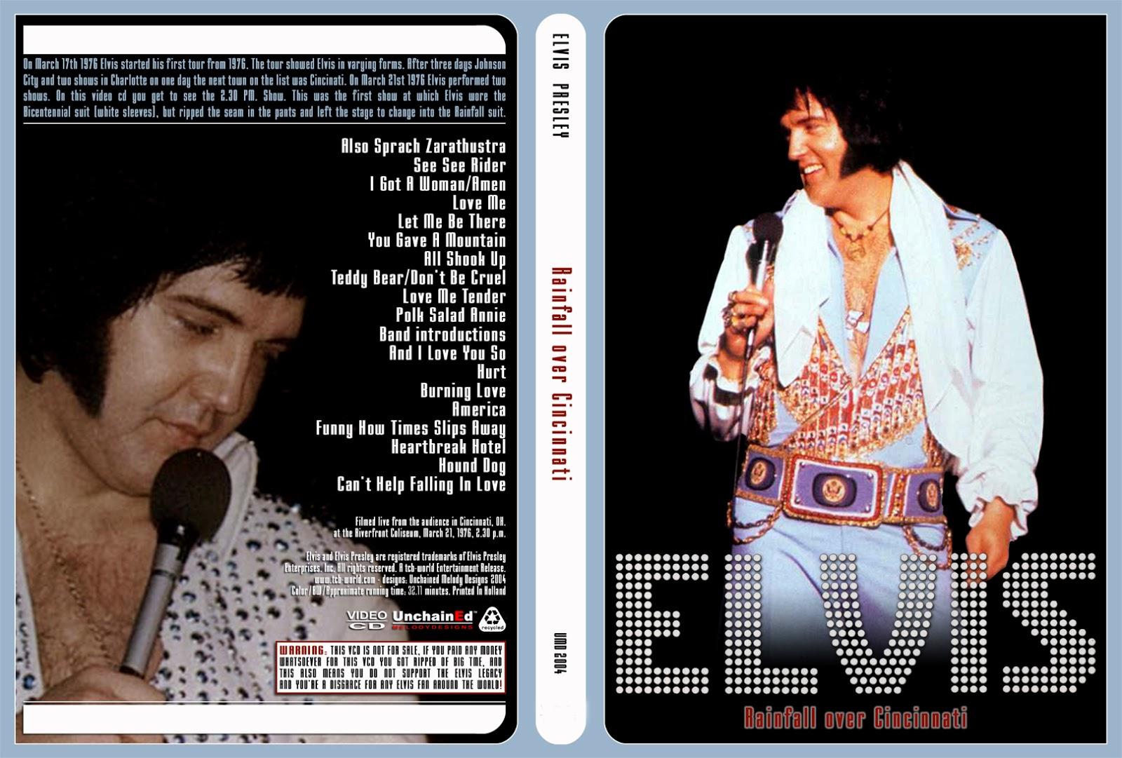 Resultado de imagem para Elvis RAINFALL OVER CINCINNATI dvd