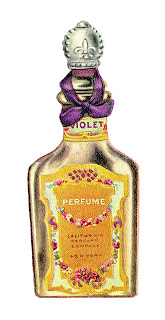 beauty avon perfume bottle vintage illustration digital image