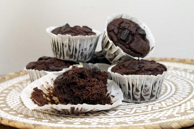 muffins de chocolate paleo