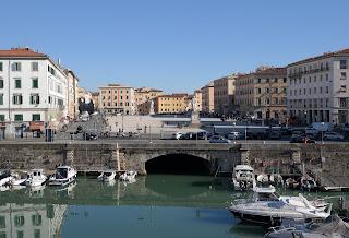 The Piazza della Repubblica in Livorno