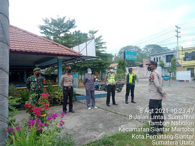 Putus Mata Rantai Covid-19, Personel Jajaran kodim 0207/Simalungun Kompak Dengan Polres Laksanakan Razia Masker