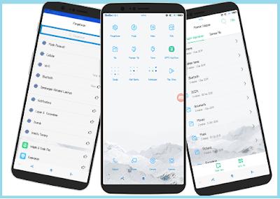 """Tema Oppo """"Blue Colors"""" Untuk Oppo A83, F5, F7, A3S, A3 dan Realme Tembus Aplikasi"""