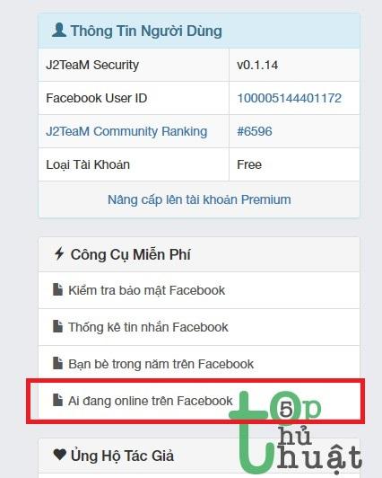 Xem ai đang online trên Facebook