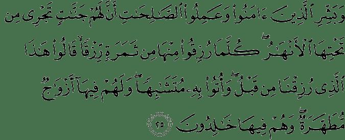 Surat Al-Baqarah Ayat 25