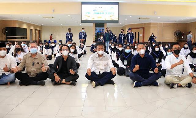 Jadi Pemateri Pengenalan HMKB Tanjungpinang, Rudi Minta Mahasiswa Tingkatkan Wawasannya