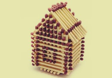 Seni kerajinan miniatur rumah cantik dari korek api