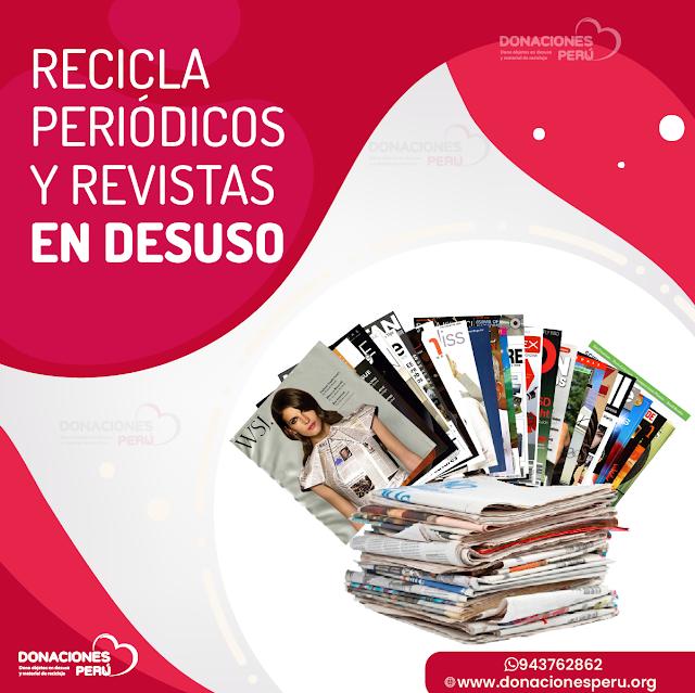Donaciones de Periódicos usados en Lima