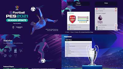 PES 2021 Menu Mod UEFA Champions League