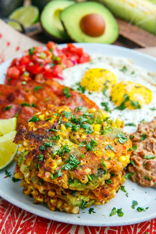 Avocado and Cheddar Corn Cakes
