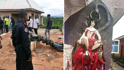 See What Was Found In The Church Of Satan, Ohafia, As Police Nabs Founder (Photos)