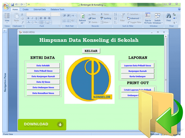 Download Aplikasi Database Bimbingan Konseling
