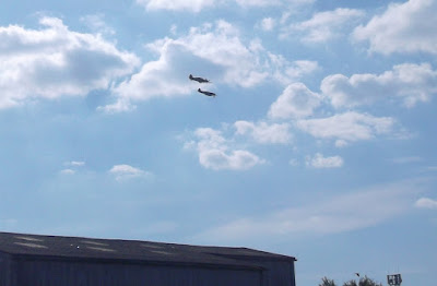 A Spitfire and a Hurricane in the skies over Brigg