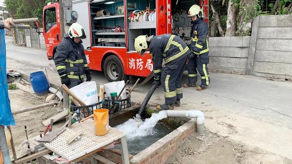 水情嚴峻超前佈署 彰化縣消防局開源節流搶救演練