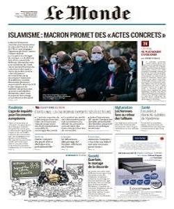 lemonde, le monde magazine 20 October 2020, le monde magazine, le monde news, free pdf magazine download.