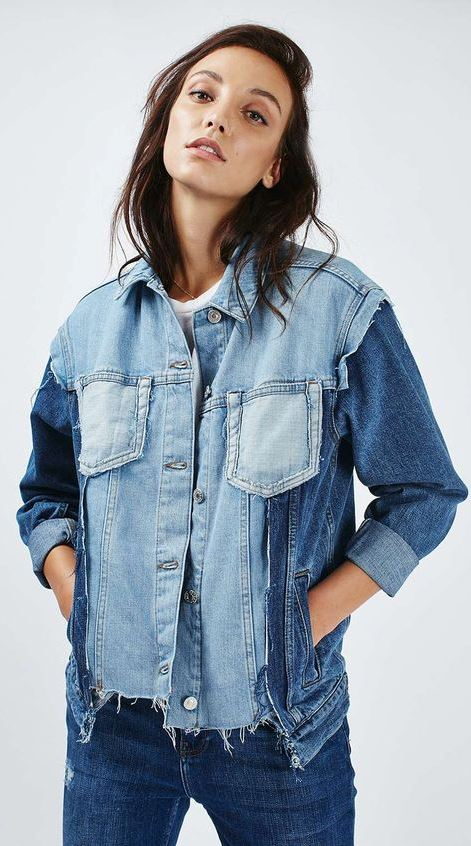 cute outfit idea_denim jacket and jeans