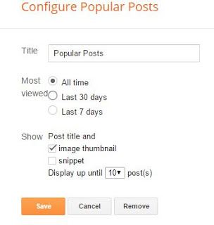 popular post configure blogger