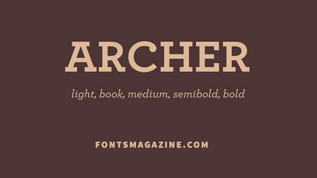 Archer Font Family Download Font Free