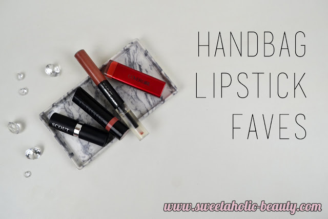 Handbag Lipstick Faves - Sweetaholic Beauty