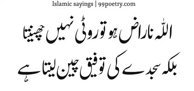 Allah naraz ho to Roti Nahin Chinta-islamic sayings urdu