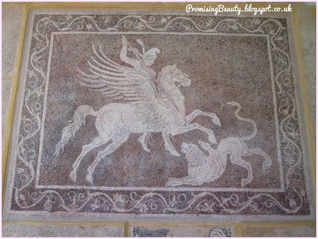 Giant floor mosaic from Kos, Greece in the archealogical museum in Rhodes town.