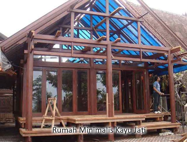 rumah minimalis kayu jati