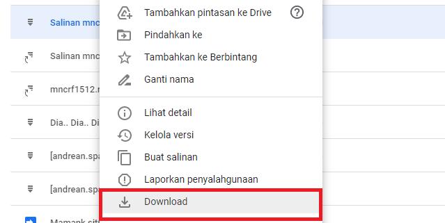 mengunduh file google drive