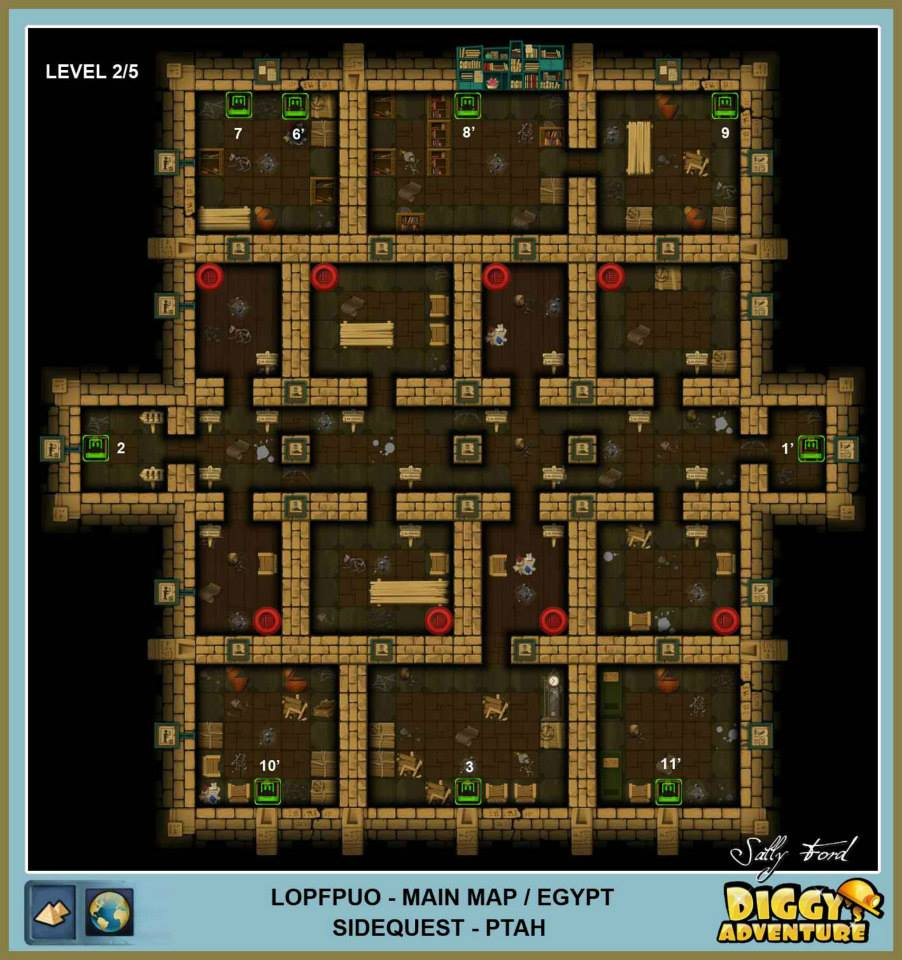 Diggy's Adventure Walkthrough: Egypt Main / Lopfpuo