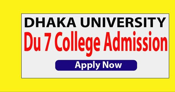 DU 7 College Admission Circular 2020-2021