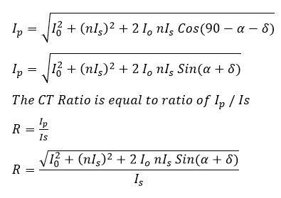 CT ratio error formula derivation