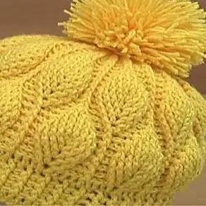 Gorro Hojas Crochet