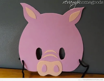 máscara de cerdo en foami