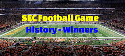 SEC Football Championship Game,  History, results, Previous,  Winners, champions,  List.