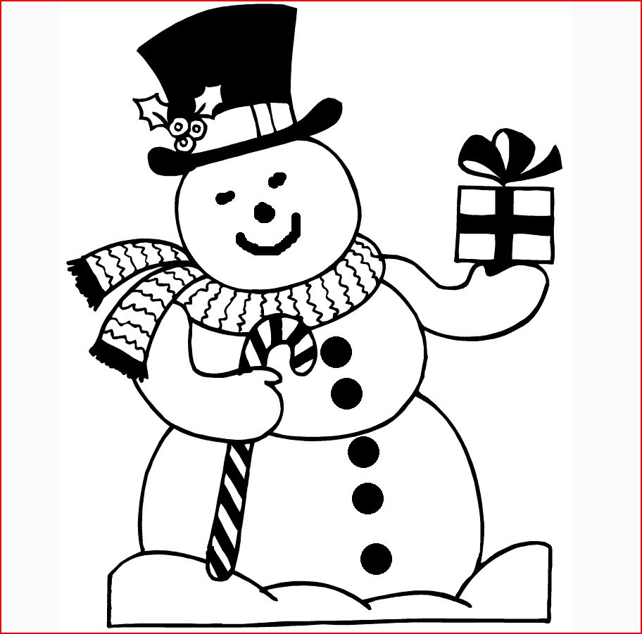 Coloring Pages: Christmas Snowman Coloring Pages Free and