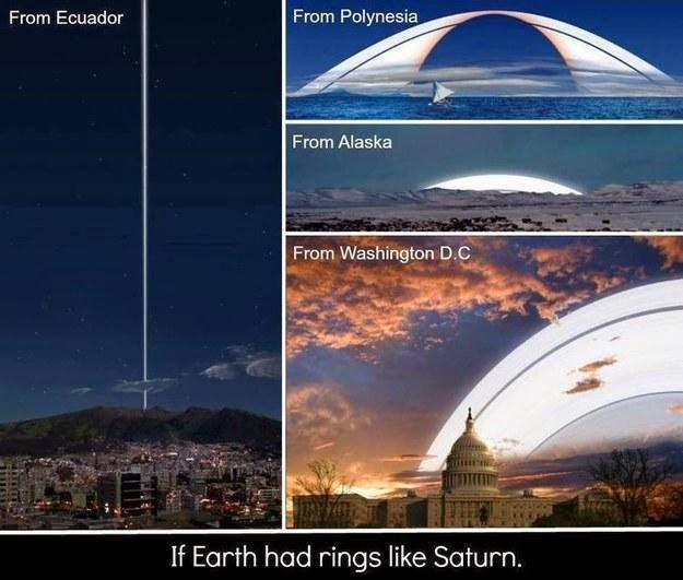 jika bumi memiliki cincin seperti saturnus