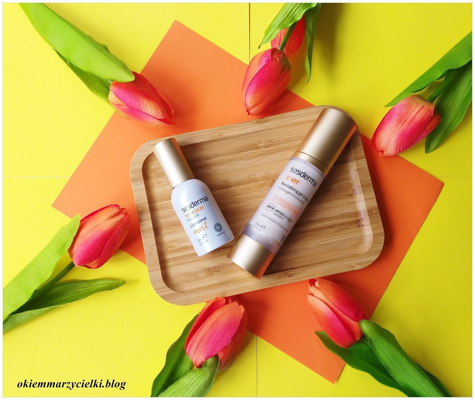 Sesderma C-Vit Revitalizing Gel Cream (Krem-żel z witaminą C) & Repaskin Mender Liposomal Mist  (Mgiełka naprawcza do twarzy),Topestetic-recenzja #130