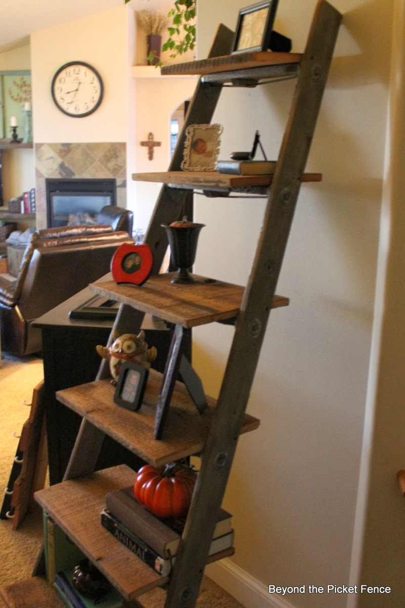 Ladder Reclaimed Wood Shelf Beyond The Picket Fence Http
